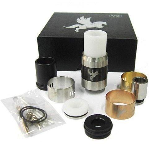 Buy Dark Horse V2 RDA Clone from Haze Smoke Shop of Vancouver Canada online and retail stores. Operated by 4 AFC rings, the Dark Horse V2 RDA Clone offers the ability of switching.