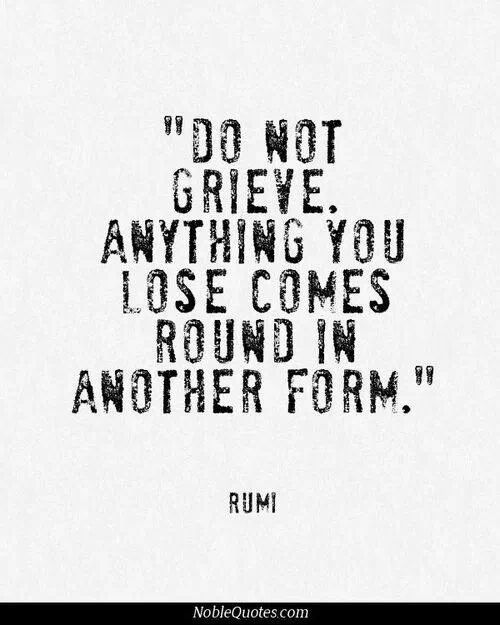 Rumi on eternity. Let go so you can attract new worlds.