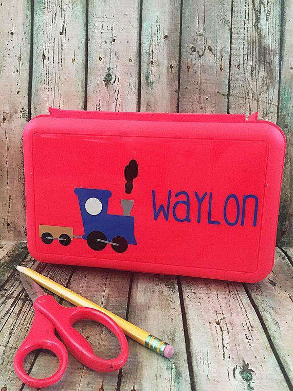 Personalized Pencil Box  Personalized School Box  School