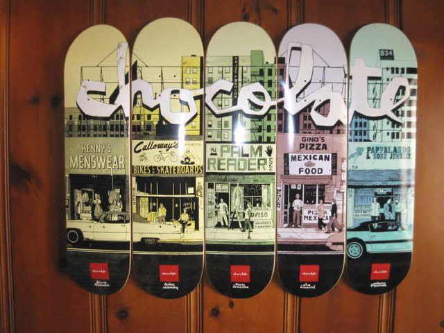 Chocolate skateboard deck series by Evan Hecox