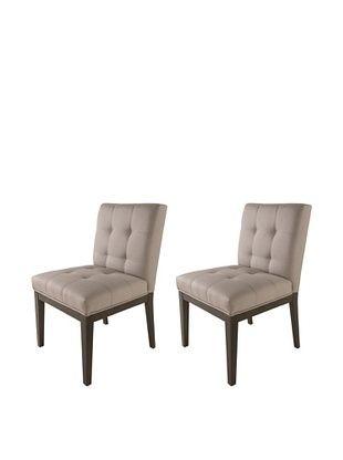 Sunpan Set of 2 Felicia Dining Chairs, Linen