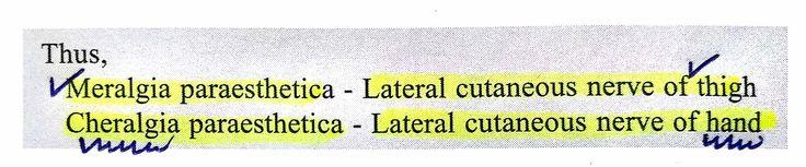 Meralgia & Cheralgia paraesthetica ... #Thigh #Hand