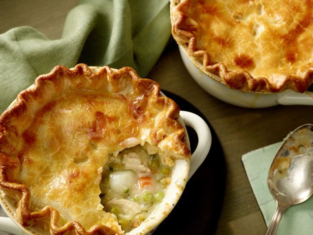 Individual Chicken Pot Pies from FoodNetwork.com.. This recipe had such good ratings i need to try it.