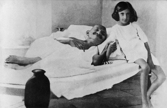 Father of the Nation, mahatma Gandhi, with six-year-old ...