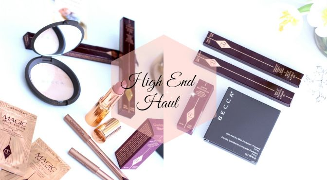 High end makeup haul
