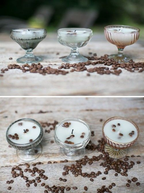 Coffe Vanilla candles. Horrible tutorial but I get the gist. Great idea and I can work out doing this on my own.