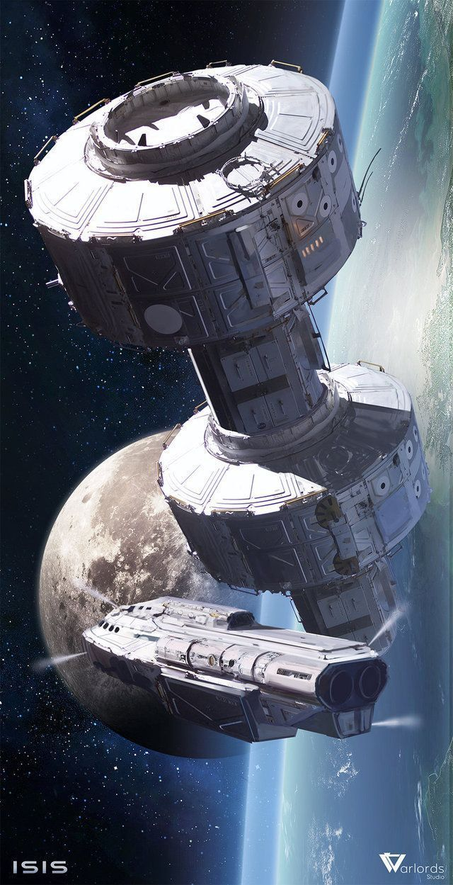 Space Station by Long-Pham Digital Art / Drawings & Paintings / Sci-Fi ©️️2013 Long-Pham Another piece of concept art for Isis, we're working hard and will show more of that soon More #spaceship – https://www.pinterest.com/pin/474355773245352985/