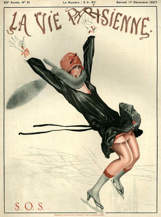 1920s France La Vie Parisienne Magazine Canvas Print / Canvas Art by The…