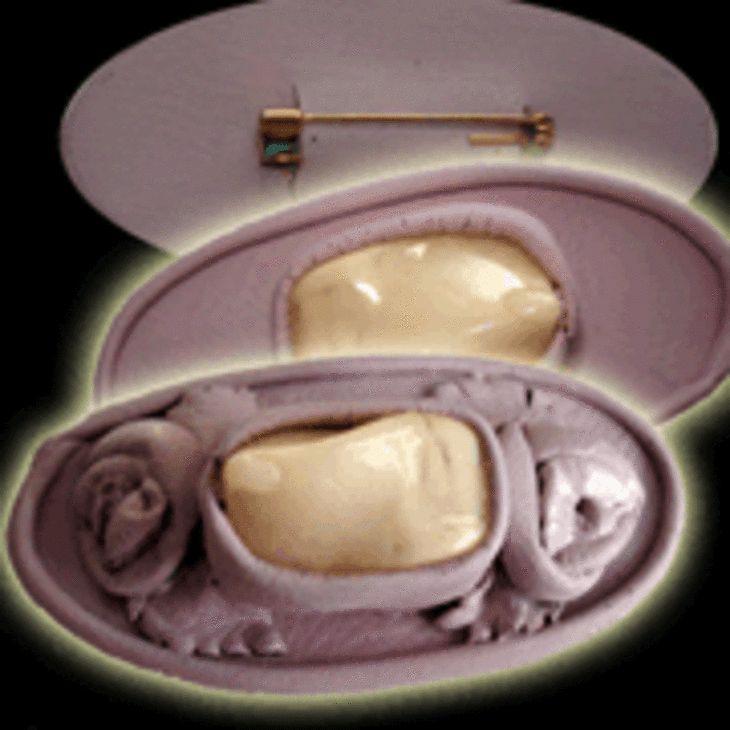 Обработка кожи: брошка из кожи под розовый коралл (бижутерия из кожи) ФОТО #3