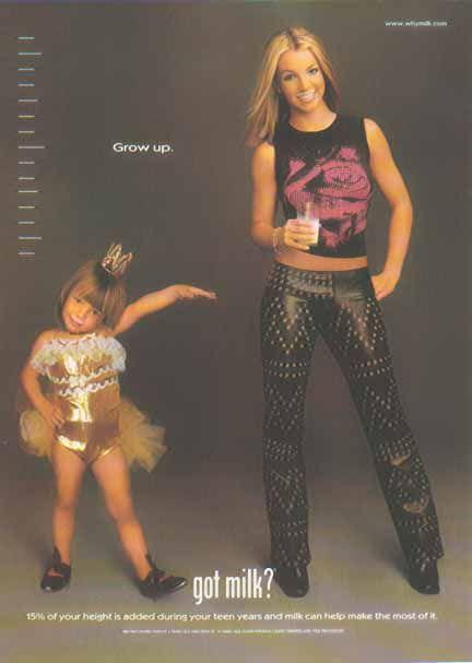 Britney Spears at 3 and 18 - GOT MILK? Ad, Got Milk? Ads