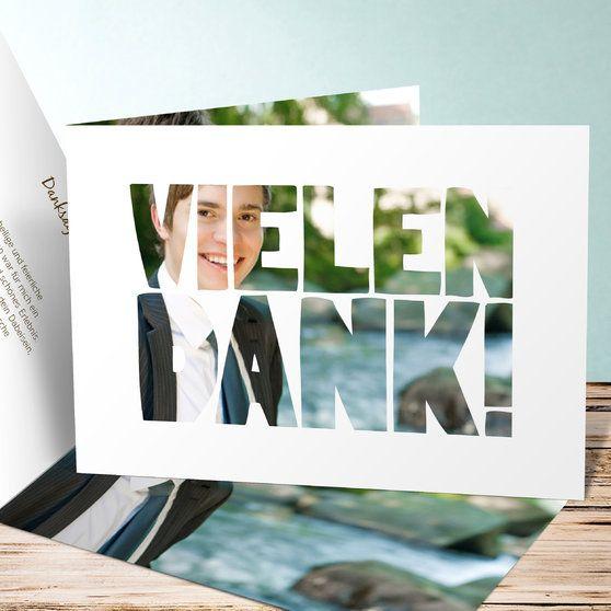 Konfirmation+Dankeskarte+Fototext+von+sendmoments+auf+DaWanda.com