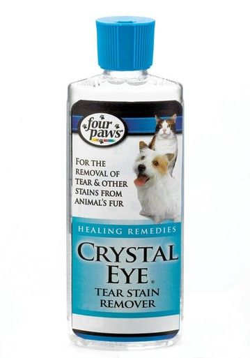 Four Paws Crystal Eye Tear Stain Remover Dog Cat Healing Remedies 8 oz Bottle