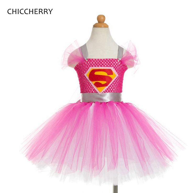 >> Click to Buy << Superman Costume For Kids Clothes Pink Lace Tutu Baby Girl Dress Vestidos Meisjes Jurk Girls Party Dresses Children Clothing #Affiliate