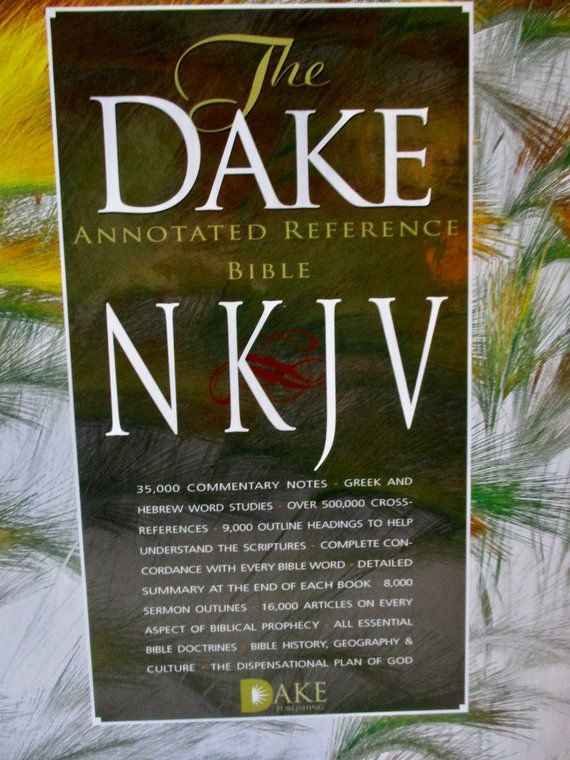 Barely Used Nkjv The Dake Annotated Reference Bible Like New Black