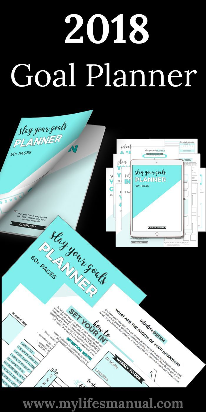 How do you plan your goals? Have you already set a personal or business goals? Slay Your Goals Planner is the only goal planner you'll ever need if you are serious about setting goals and achieving them. If you have not created any goals yet, Let this goal setting planner helps you find your intention, set actionable goals and slay them. #goals #planner #Printable (affiliate link)