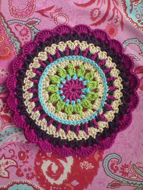 Ravelry: Project Gallery for Little Spring Mandala pattern by Barbara Langer