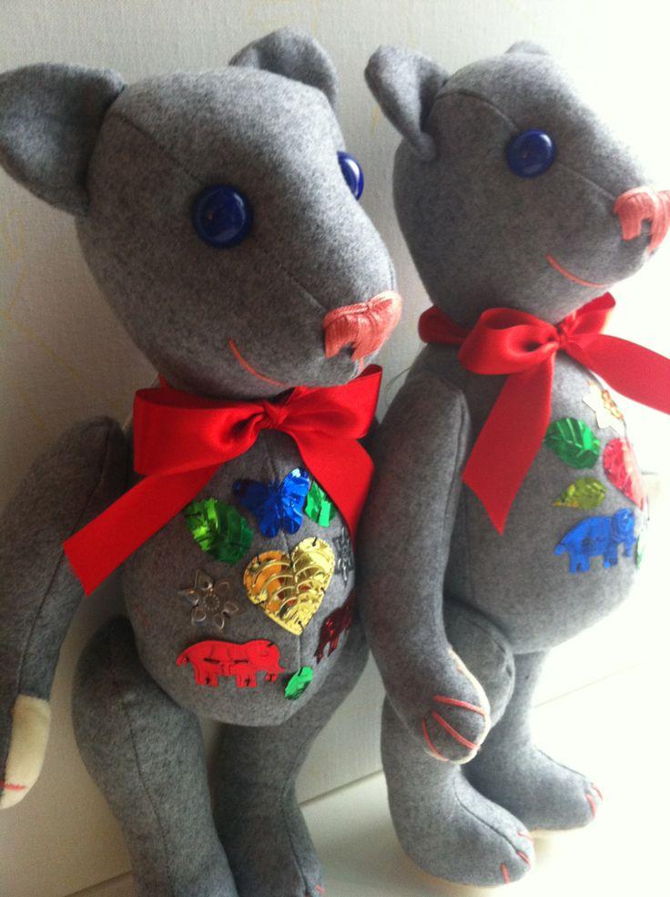 Alex & Robert Teddy Bears. Aren't they cute? By GSBears, Barcelona
