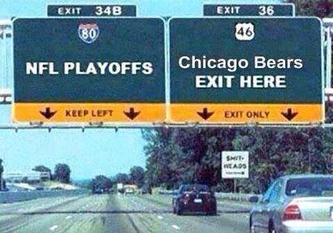 NFL PLAYOFFS Chicago Bears EXIT HERE
