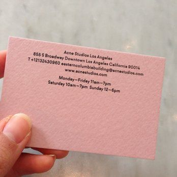 Acne Studios Business Card
