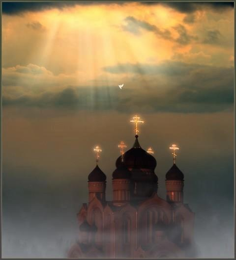 .Beautiful moment for this Orthodox church