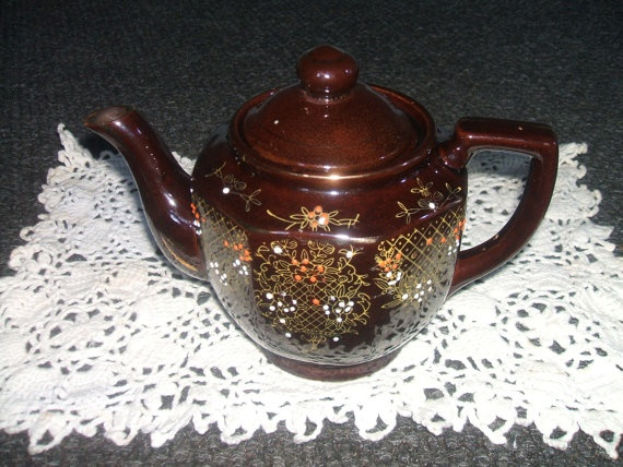 1940 Hand painted Japanese Moriage Teapot by Andie83 on Etsy, $20.00