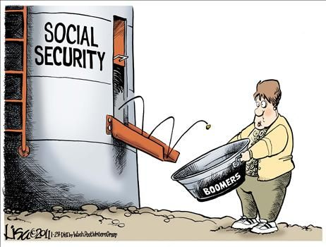 social security political cartoon - Google zoeken | ML Verzorgingsstaat - Social security ...