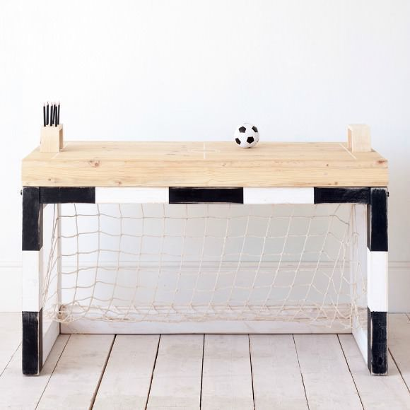 Football goal table AIDEN WOULD LOVE THIS. BUT MY WALLS WOULDN'T. HE WOULD ACTUALLY USE THIS DOING HOME WORK.  LOL