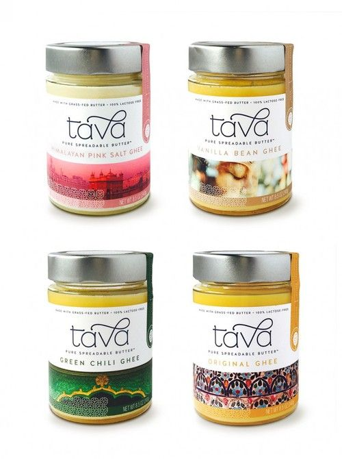 Tava Organics is an artisan producer of organic ghee, or clarified butter. Miller was tasked with creating Tava's branding and packaging design.