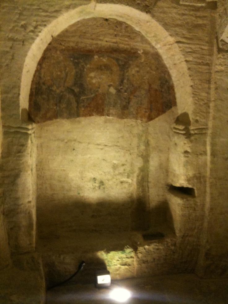 Parete della Cripta