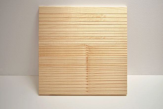 Eva Francová, Parcela 1605/3, wood, 40 x40 x 2 cm