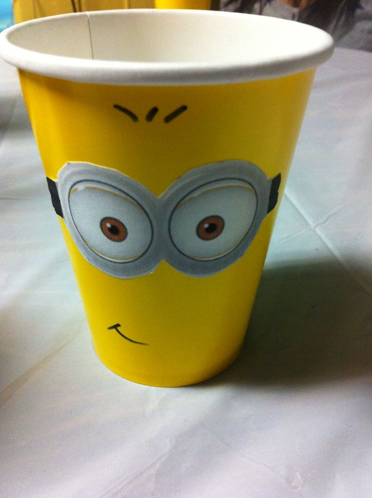Minion birthday cup