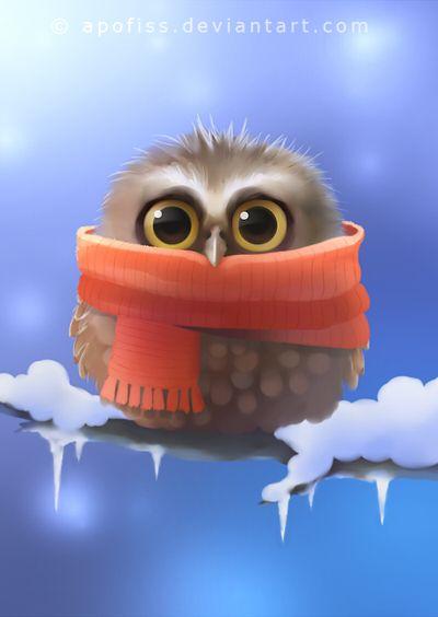 little owl by Apofiss
