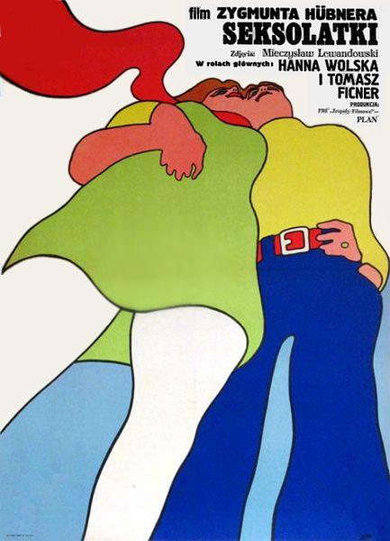 Poster art for Zygmunt Hübner's Skesolatki, Czechoslovakia, 1972, by Maciej Zbikowski.