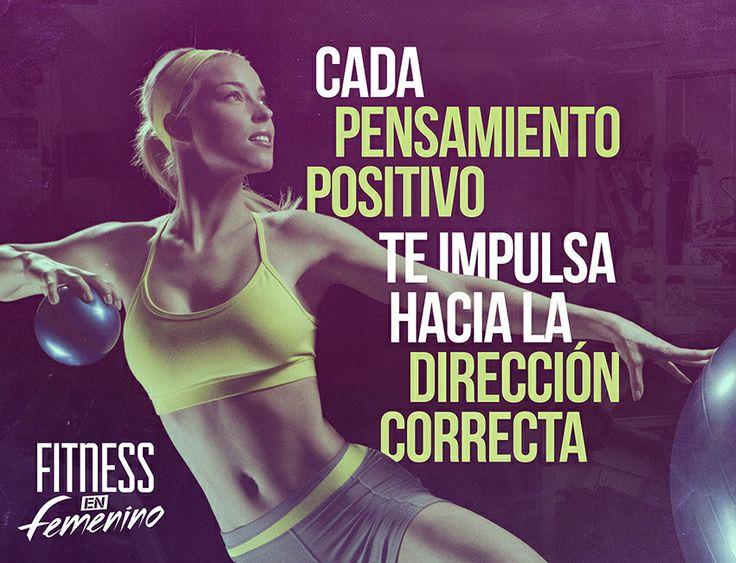 ☆ Deja fluir la energía positiva. Deja que recorra tu cuerpo y mente. ☆ Fitness en Femenino