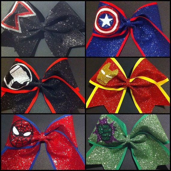 Set of 6 Avengers Superhero Bows