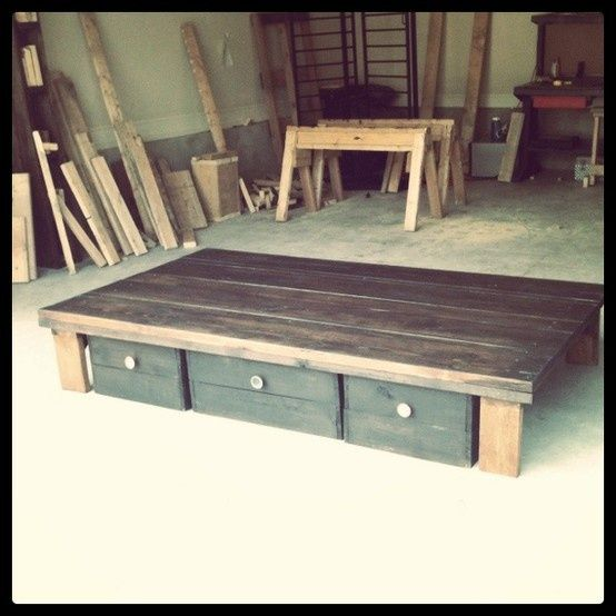 "homemade bed ""frame"".... LOVE IT!"