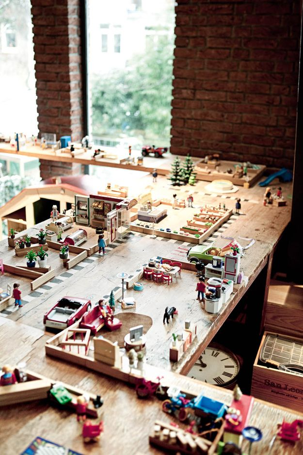 A giant Playmobil display. | 32 Things That Belong In Your Child's Dream Room