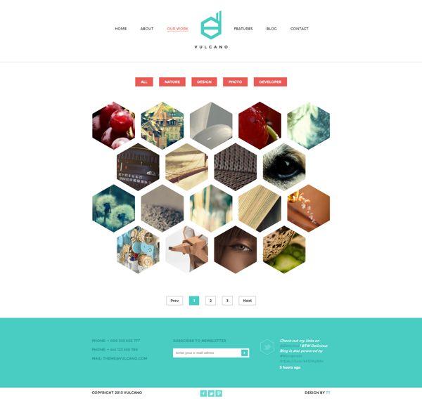 Vulcano - Creative HTML Theme by Zizaza - design ocean , via Behance  www.corsidimoda.it