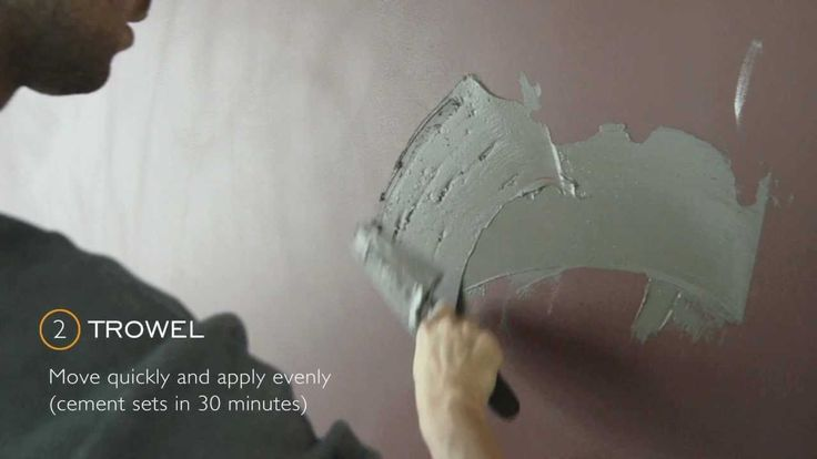 We wanted something different for our lobby wall. So we put a layer of cement on it. This short video shows you the process. What we used: Ardex SD-M Water T...