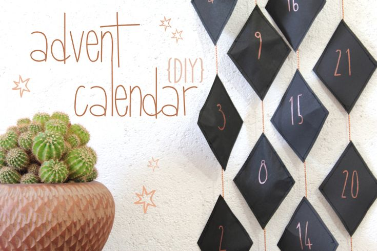 DIY Adventskalender Kupfer & Rauten // DIY advent calendar copper & black by http://blog.naehmarie.de/ // advent calendar calendrier de l'avent