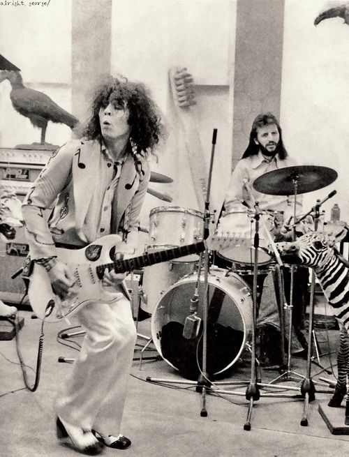 Marc Bolan (T-Rex) and Ringo Starr