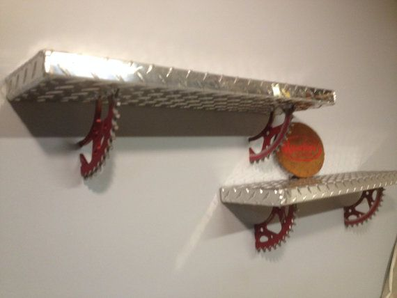 Aluminum diamond plate motocross sprocket shelves by Russellbilt, $125.00 Have Dave fabricate?
