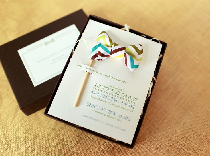 Little Man Baby Shower Invitations and Details by Atheneum Creative via Oh So Beautiful Paper