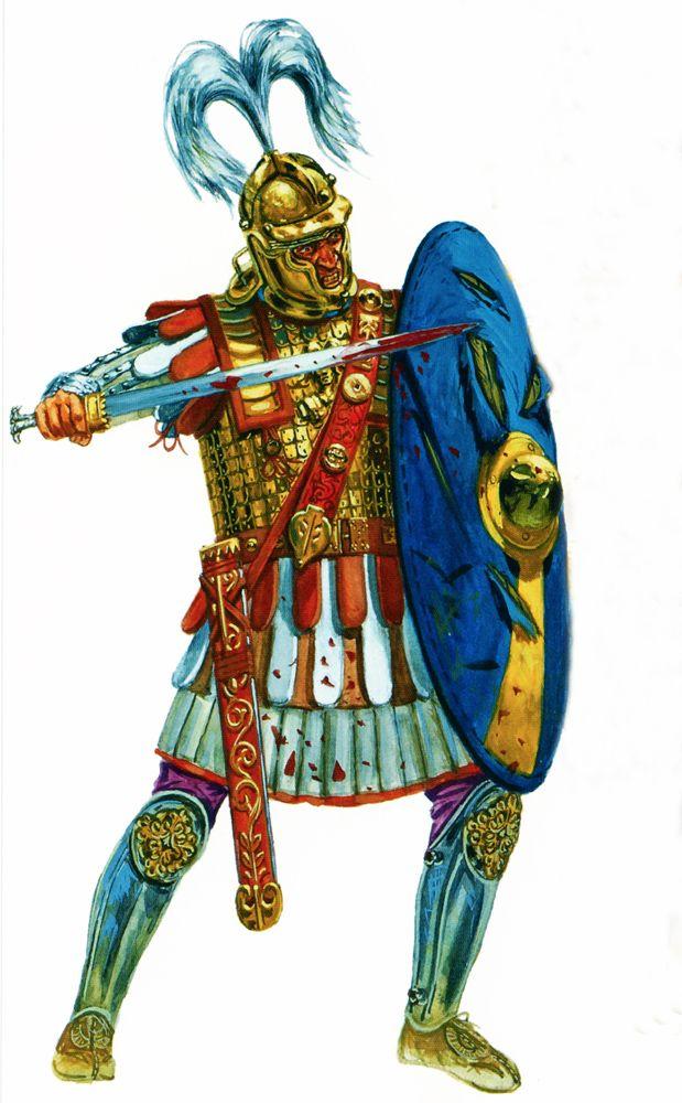 Centurión romano en el siglo III, cortesía del maese Rava. La mejor colección de láminas militares en http://www.elgrancapitan.org/foro/