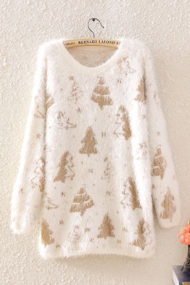 Go snowy and subtle with a white and gold jumper this #xmasjumperday...