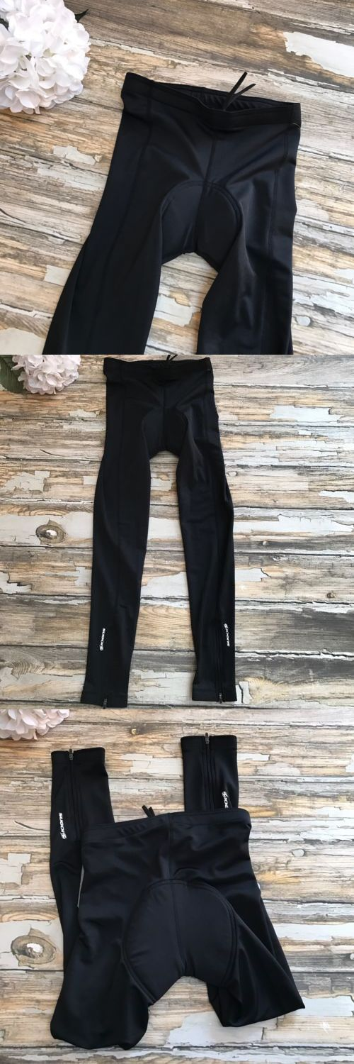 Tights and Pants 177854: Sugoi Women S Pants Black Padded Cycling Biking Tight Midzero Zip Compression -> BUY IT NOW ONLY: $44.99 on eBay!