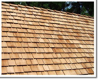 TYPES OF ROOFING SHINGLES (2 OF 5) Wood shingles. More expensive than asphalt, wood shingles are known to be more aesthetically appealing because of their natural appearance. If you choose a hard wood, such as cedar or redwood, the shingles should last at least 30 years and sometimes as long as 50 years. Visit http://www.Litespeedconstruction.com for more info