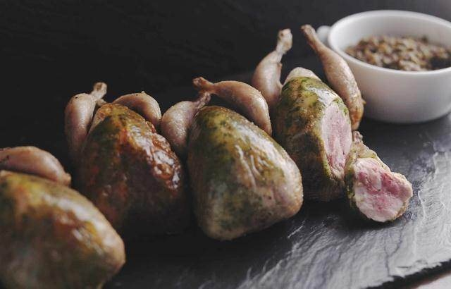 Roast Quail With Herb Butter
