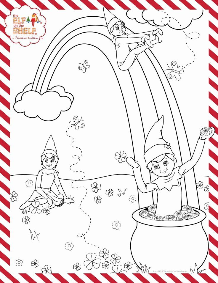 Elf On The Shelf Coloring Page Elegant St Patrick S Day Printable Elf Activities Elf On The Shelf Elf Crafts