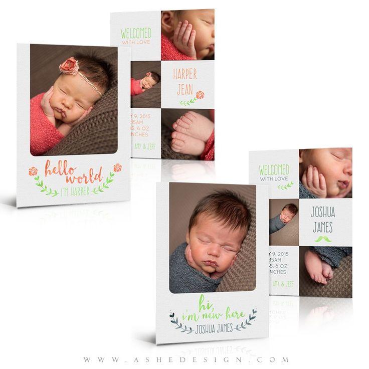 53 best Newborn Photoshop Templates images – High End Birth Announcements
